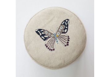 Pouf with butterfly