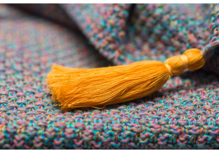 Cable Knit Throw Tassels