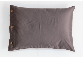 PILLOW CASE SATEEN Stone with coconut buttons - Limited Edition