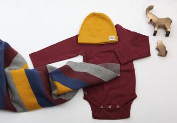 Strickdecke für Babys und Kleinkinder Streifen