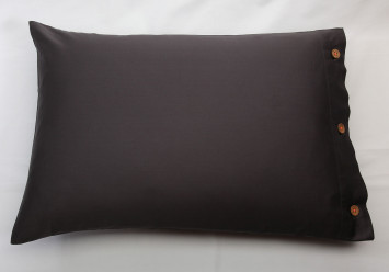 PILLOW CASE SATEEN Charcoal...