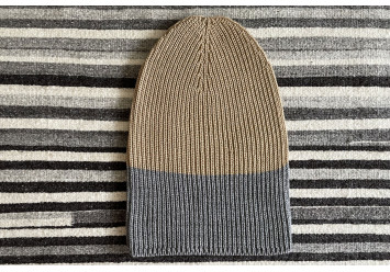 Two Colored Knitted Hat -...