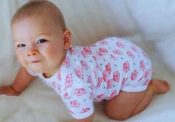 BABY BODY KURZARM MIT ELEPHANT / HERZ DRUCK