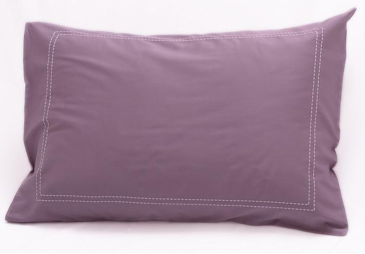 besticktes kissen mit eleganter bord re in weiss blau lila beige. Black Bedroom Furniture Sets. Home Design Ideas