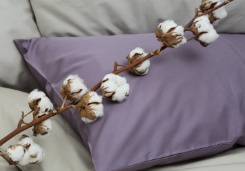 PILLOW CASE SATEEN MAUVE