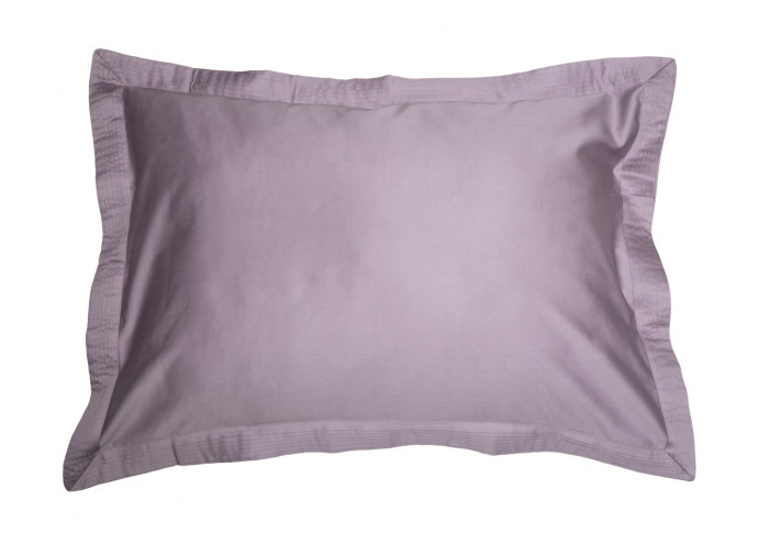 PILLOW CASE SATEEN WITH VOLANT MAUVE