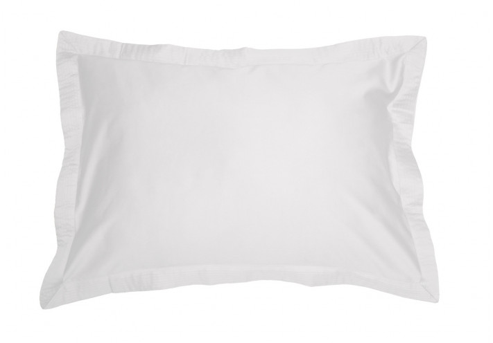 PILLOW CASE SATEEN WITH VOLANT WHITE