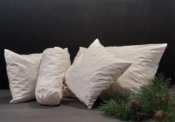 Kissen mit Arvenholz- und Hirseschalen-Füllung