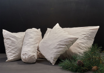 Pillow with pine wood and millet hulls