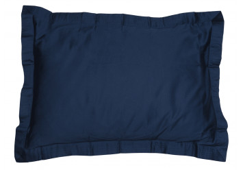 PILLOW CASE SATEEN WITH VOLANT NAVY