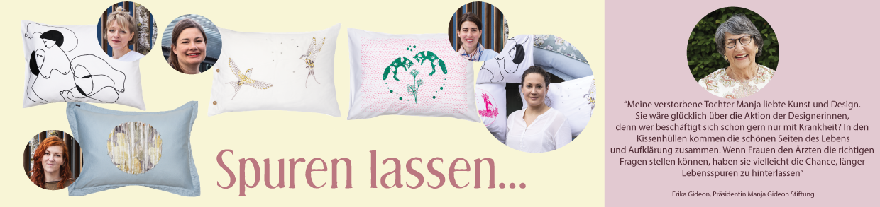 "Kissenedition ""Spuren lassen"" - Charity Aktion"