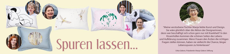 """Kissenedition """"Spuren lassen"""" - Charity Aktion"""